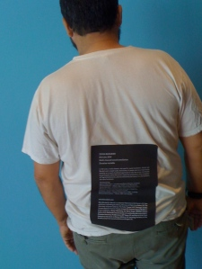 wearing one's wall text